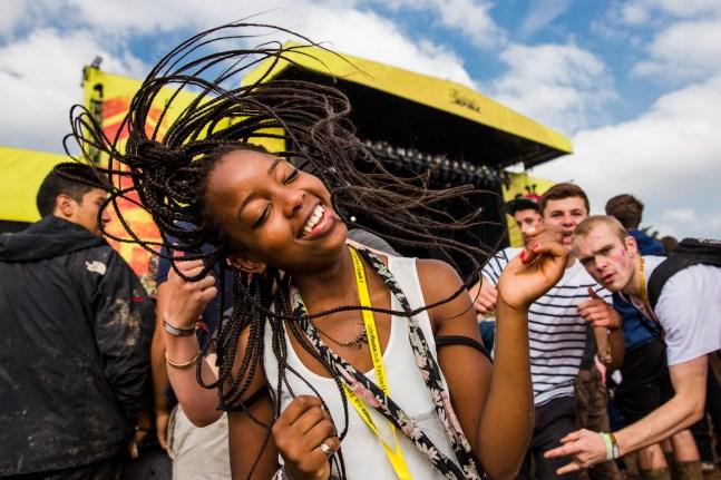 A punter dances at Leeds Festival mainstage