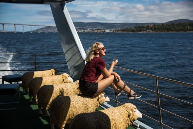Cybele rides a sheep to MONA