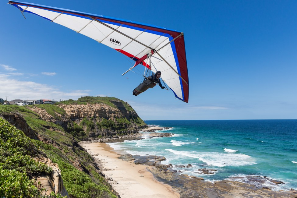 Hang Gliding over Bar Beach Newcastle