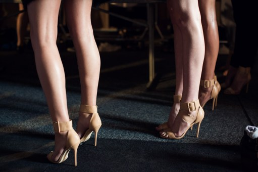 Alice McCall backstage MBFWA 2014 - Nasty Gal shoes