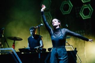 : Megan Washington and The Presets - Triple J's Beat the Drum conc The Domain Sydney