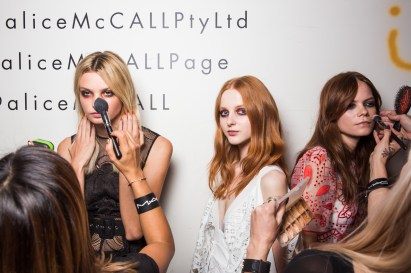 : Alice McCall MBFWA 2015 Backstage Carriageworks Sydney
