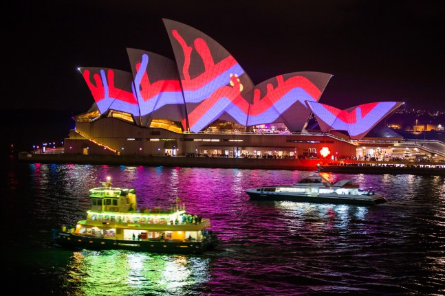 : Lighting of the Sails Sydney Opera House
