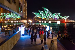 Vivid Sydney 2015 : Lighting of the Sails Campbell's Cove