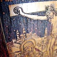 374 Zodiac Crucifix Carving