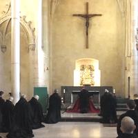 6782 Cardinal Sarah Visits Solesmes Monks G