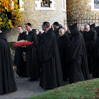 6782 Cardinal Sarah Visits Solesmes Monks J