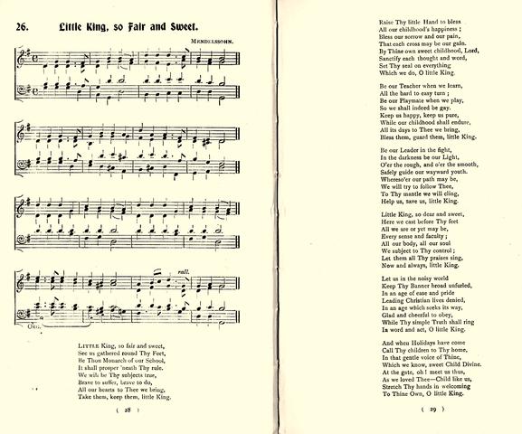 80523 MENDELSSOHN 1905 NOTRE DAME HYMN BOOK (Birtchnell & Brown)
