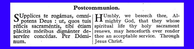 809 Postcommunion