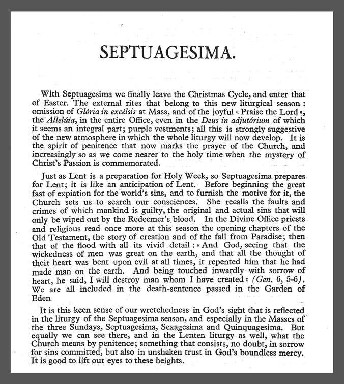 830 Septuagesima Solesmes