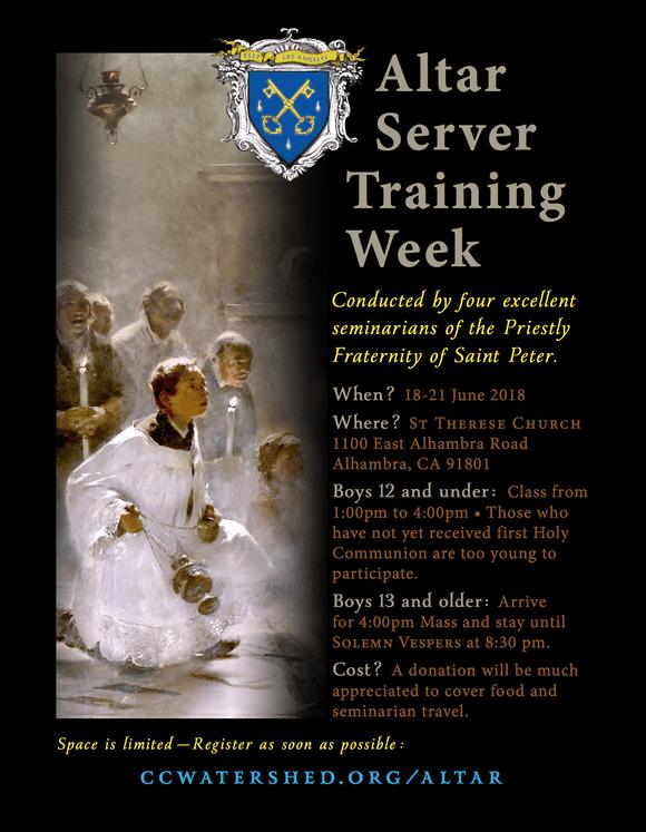89025 FSSP Altar Boy Training Workshop