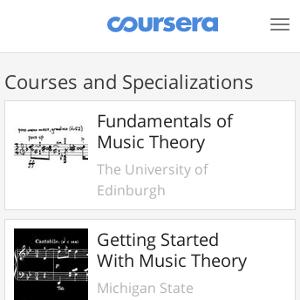 Coursera Music Theory