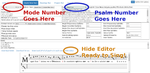 Psalm Tone Tool with Marks