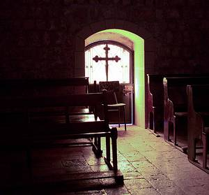 Inside an old church in Syria