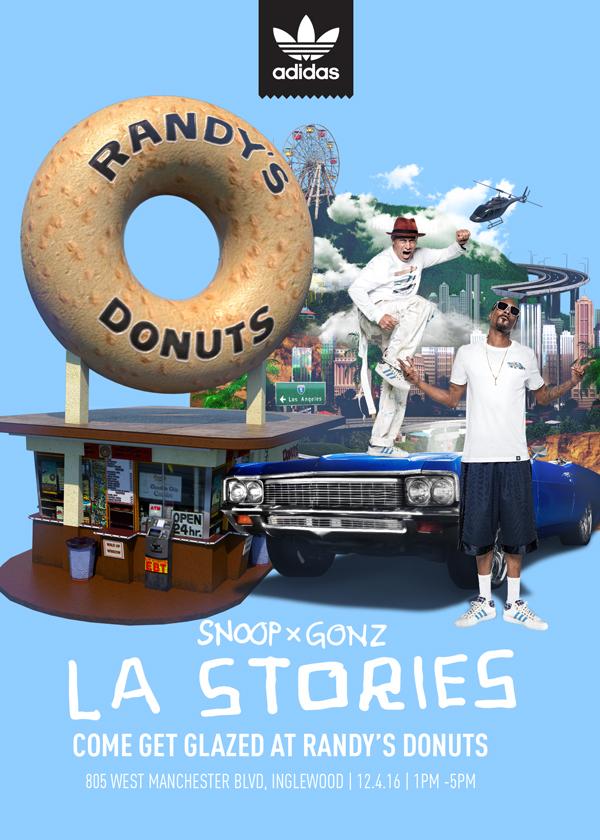 Adidas x Snoop x Gonz x Randy's Donuts Uncle Snoop