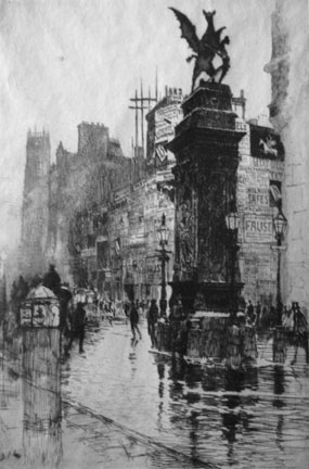 J. Pennell, A Temple Bar, 1885 [http://archive.cnx.org]