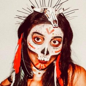 Halloween Glam Skeleton Makeup DIY