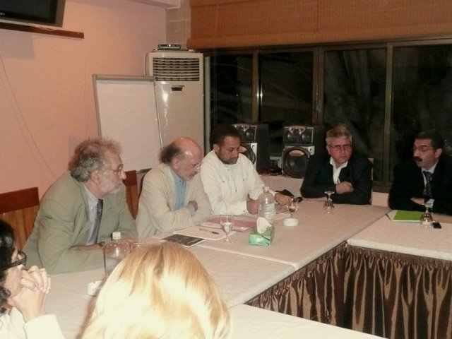 Professors Cushman & Rosenhead, meeting with the Academic Trade Union in Gaza (December 2008)