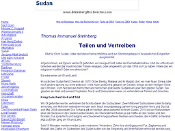 screenshot of www.steinbergrecherche.com/sudan.htm