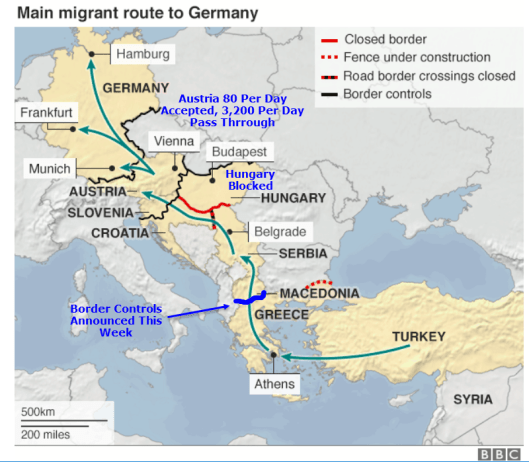 Refugee Route