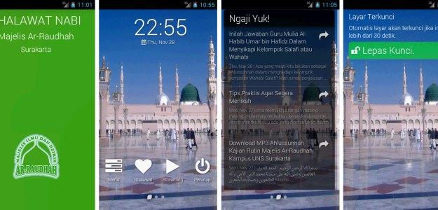 Tampilan Homescreen Aplikasi Shalawatan Yuk v1.0.0