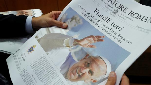 El Papa Francisco publicó la Encíclica Fratelli Tutti