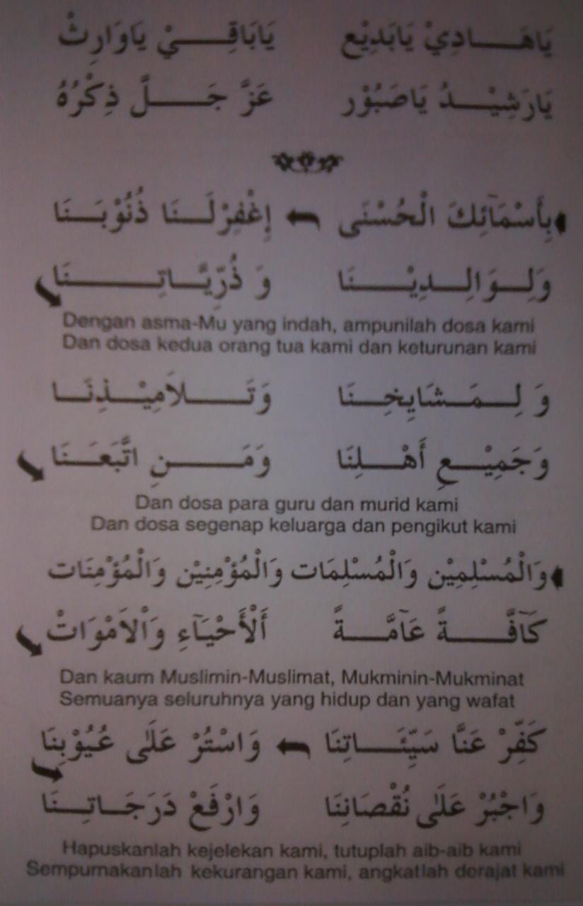 Doa Asmaul Husna Dan Artinya