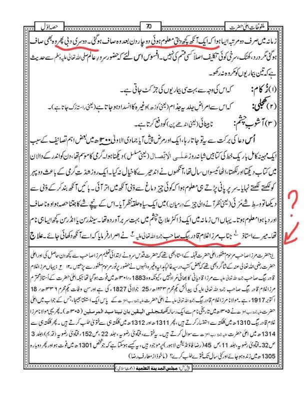 رد بریلویت ملفوظات اعلحضرت ۔ احمد رضا خان کی ایک آنکھ اور استاد عبد القادر