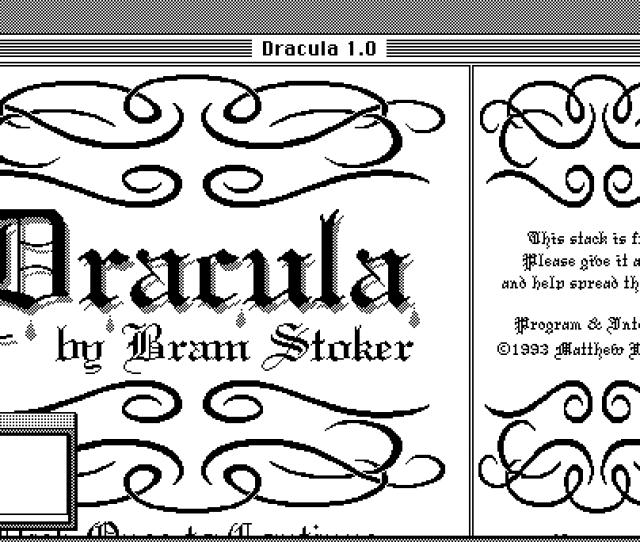 Dracula Hypercard Novel