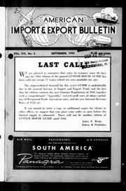 export bulletin 1943 09