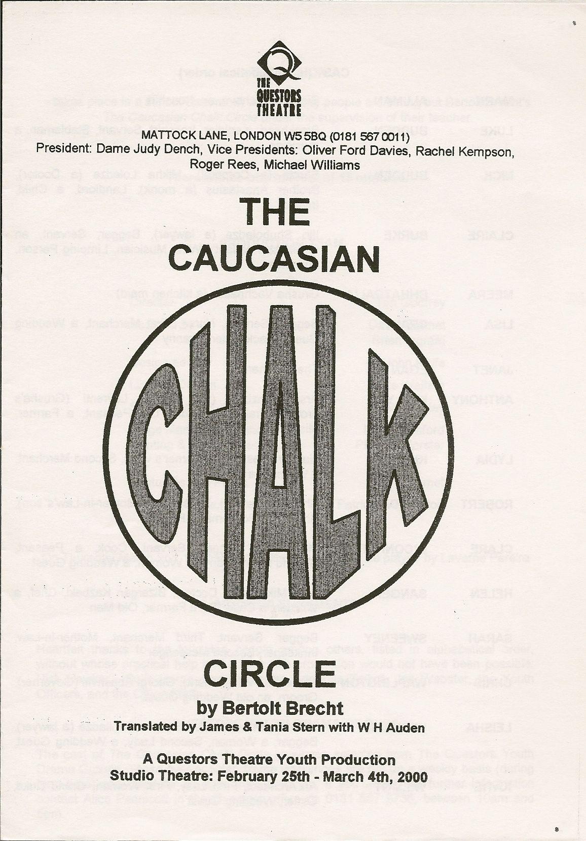 The Questors Theatre Archive The Caucasian Chalk Circle