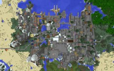 Imperial City from above - Daytime, North is up