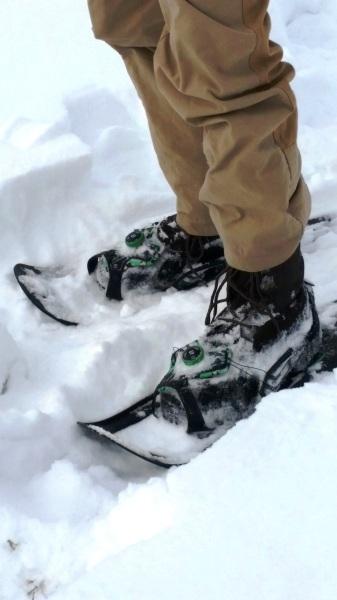 The Tubbs FLEX RDG shoes hold up across varied terrain.