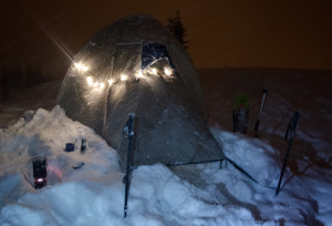 For little more than the weight of a couple of batteries your tent becomes festive.