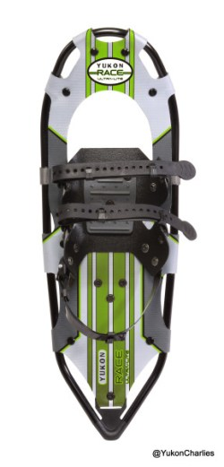 """Just introduced, the new Yukon Charlie's® Race Ultra-Lite™ """"engineered from the ground up"""" for a high performance super-light racer . . . and decked out in Lime signifying lower course times."""