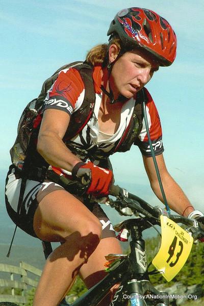 On an earlier trail bike race