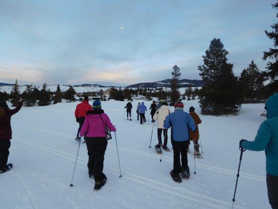 snowshoe tour in Frisco CO