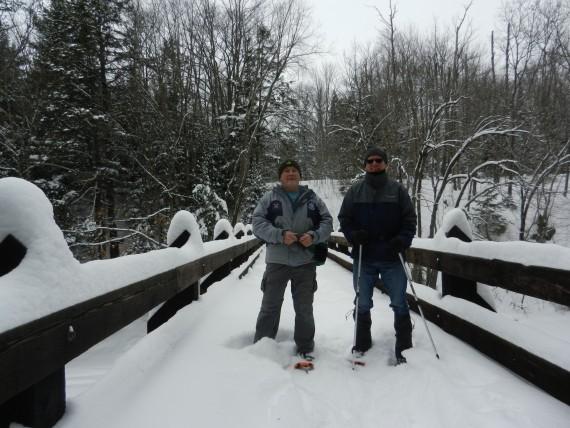 seniors with hiking poles