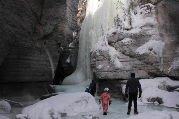 Easy Canyon Hiking and Ice Walking in Jasper
