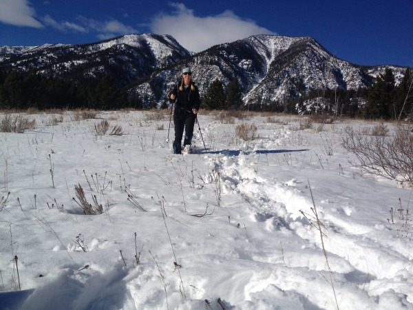 Trails are great, but there's lots of off piste snowshoeing at Refuge Point.