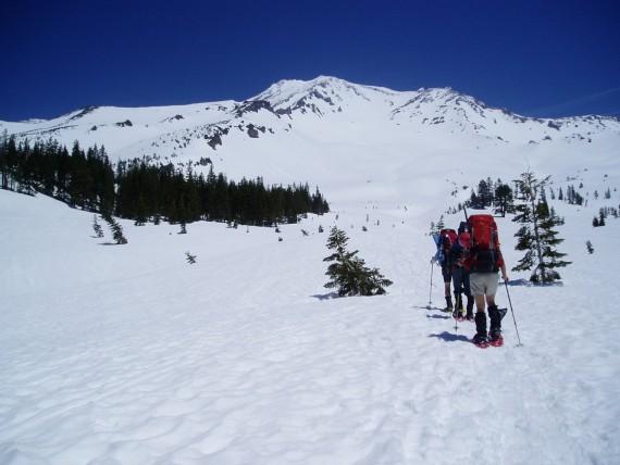 Snowshoeing on Shasta