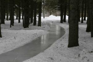 frozen stream Manitoba