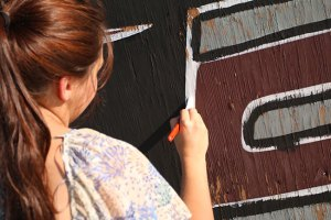 Painting-football-sign