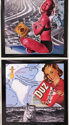 More collages by Paul Beer using vintage ads.