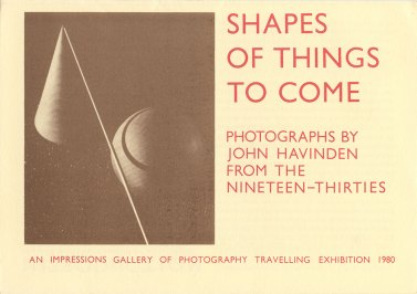 Front cover of the catalogue for the 1980 John Havinden exhibition, curated by Val Williams and David Mellor. (Val Williams Archive/Library of Birmingham/ Photography and the Archive Research Centre Poster Collection)
