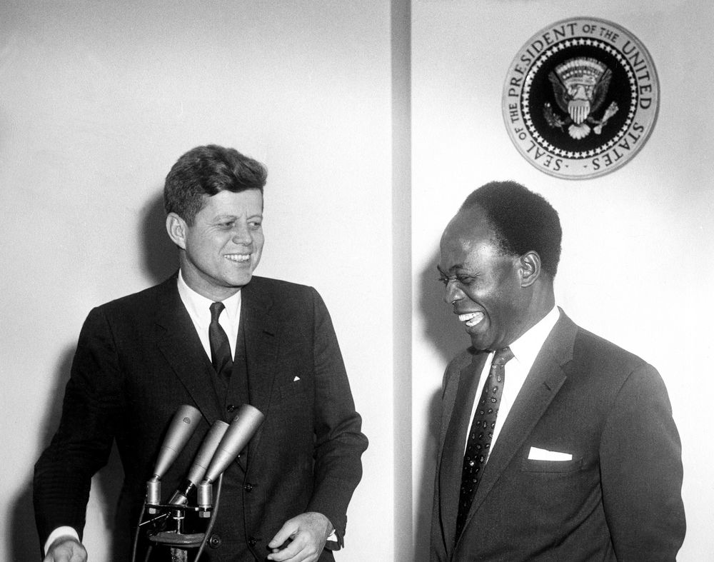 Image result for J.F. Kennedy and Nkrumah