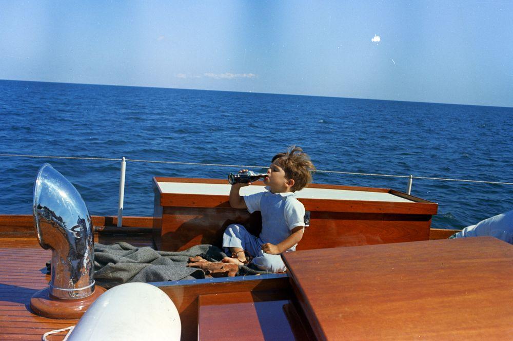ST C283 3 63 Timothy Shriver On Yacht Honey Fitz In