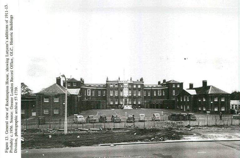 Roehampton Lane is widened in 1956