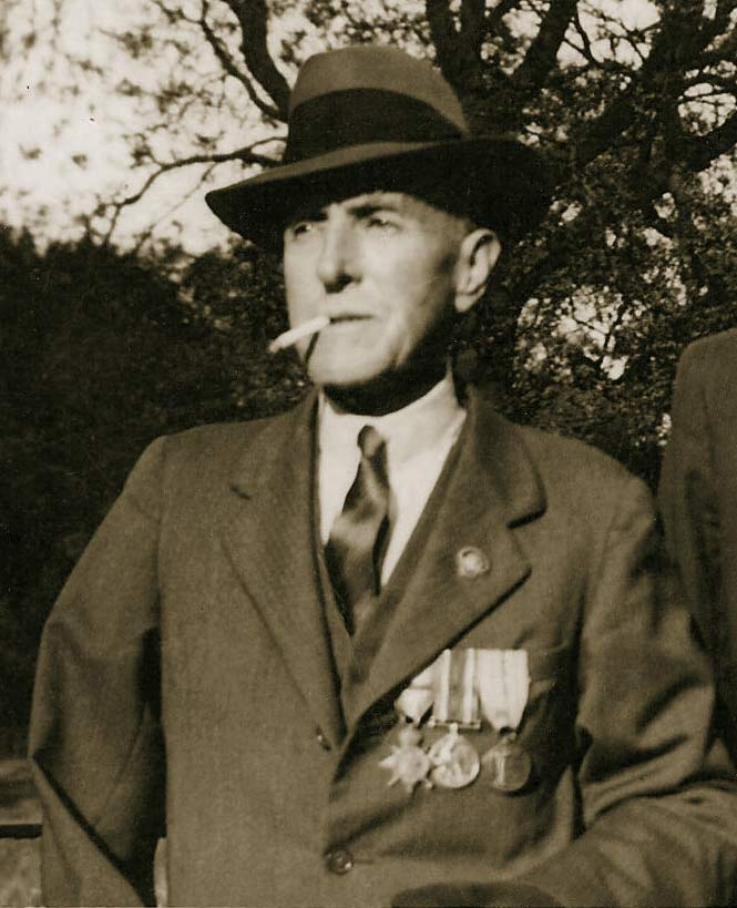 Frank Chapman in his campaign medals
