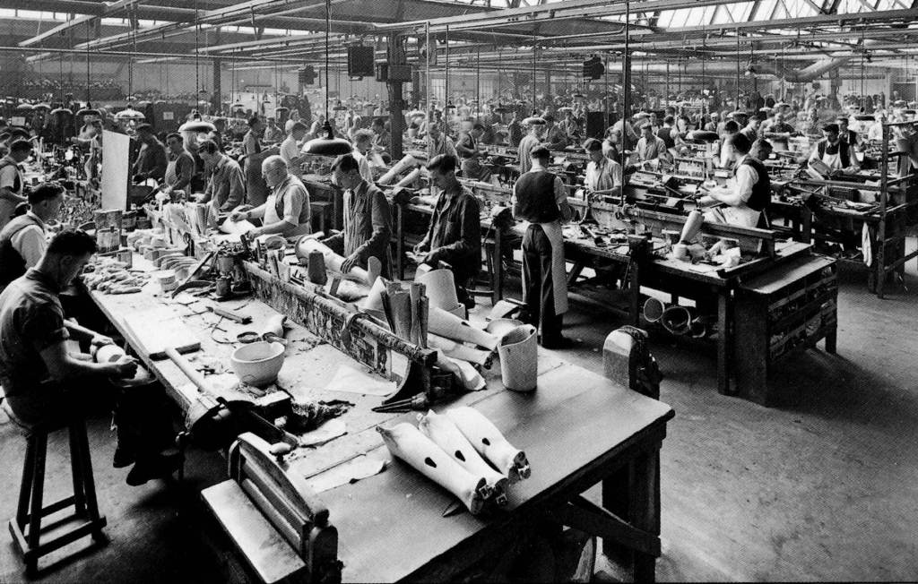Main factory post-war 1950s